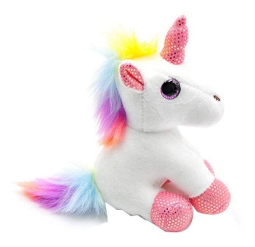 Llavero Unicornio Pony Peluche Colgante