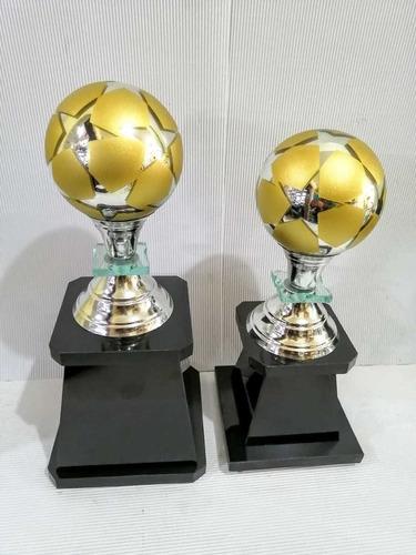 Trofeos De Futbol Dupla Dorada