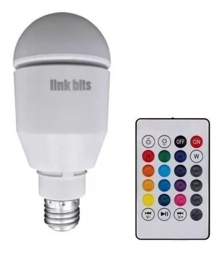 Foco Bocina Led Bluetooth Con Luz Multicolor Rgb - T