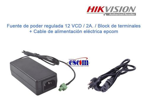 Fuente De Poder 12v 2a Hikvision Cámaras Ptz Terminal Block