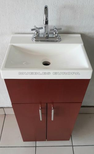 Gabinete Baño Mueble Mini C Lavabo Y Llave Oferta Moderno