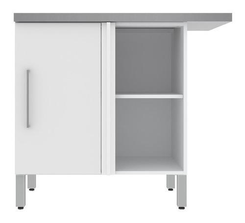 Moderno Mueble Para Cocina Modulo Bajo Blanco Envío Gratis