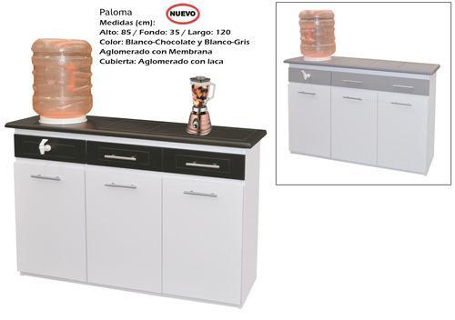 Mueble Para Cocina Modelo Paloma Gris