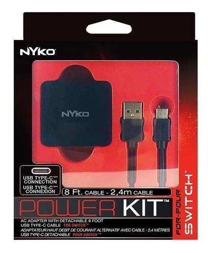 Power Kit Cable Cargador Nintendo Switch Nyko Tipo C Nuevo