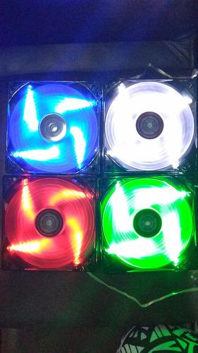Ventilador Gamer 120mm Led Color Rojo,verde,azul,blanco Pza