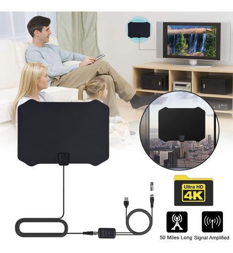 Antena De Televisión Digital Para Interior Hdtv Amplificada