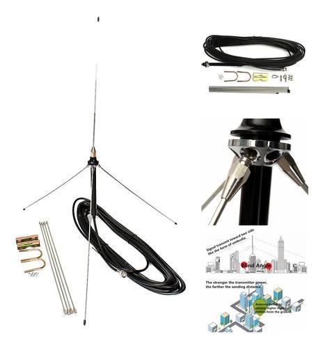 Cable De 15m Potente 1/4 Onda Gp Antena Para Transmisor Fm D
