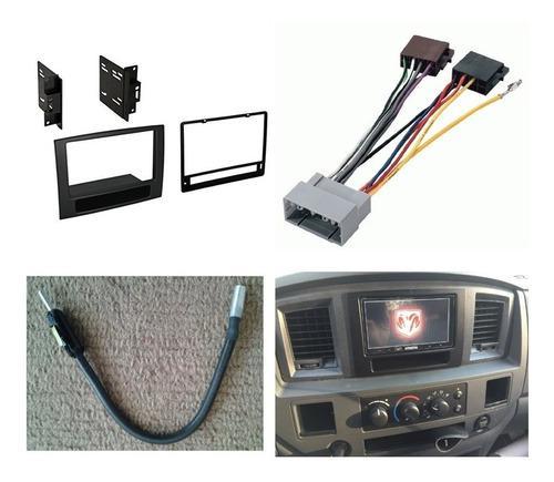 Kit Frente 2 Din Arnes Antena Dodge Ram 2500 Año 2006 A