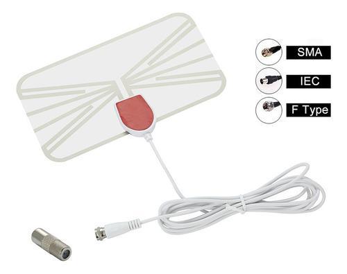 Leory Antena De Tv Digital Amplificador De Señal Plana