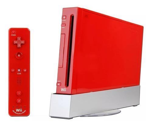 Nintendo Wii Roja Con Juegos Edición Mario 25 Aniversario