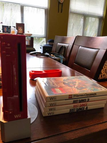 Nintendo Wii Rojo Edición Mario 25 Aniversario