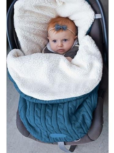 Almohada Envoltura Para Bebés Manta De Punto Azul