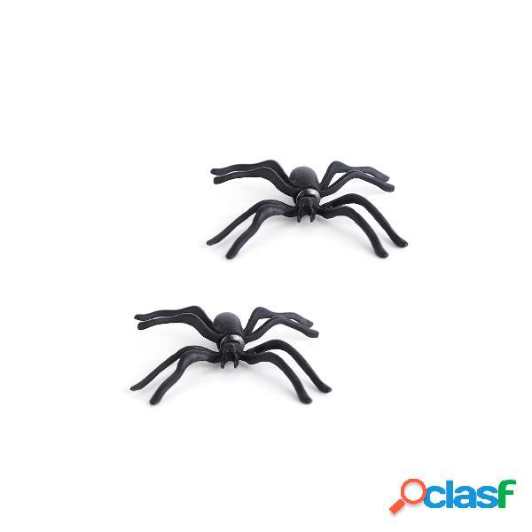 Aretes de araña de halloween negro