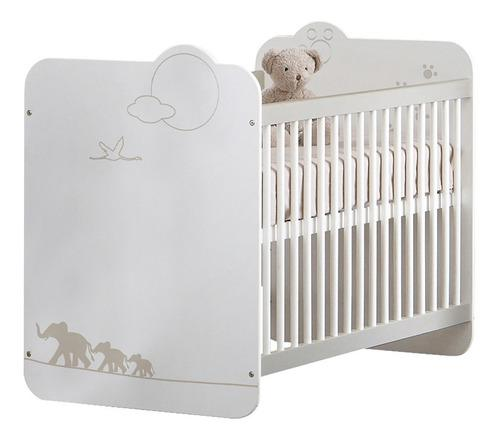 Cuna Corral Para Bebé Blanca Con Colchón Incluido Tugow