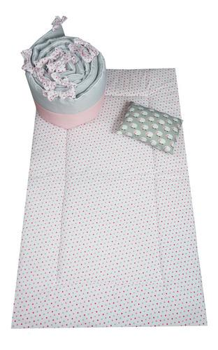 Juego De Edredon Para Cuna Cary Pink Dots 70x130 Cm