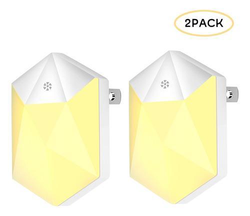 Paquete De 2 Luces Led Nocturnas Enchufables 0.5w, Luces De