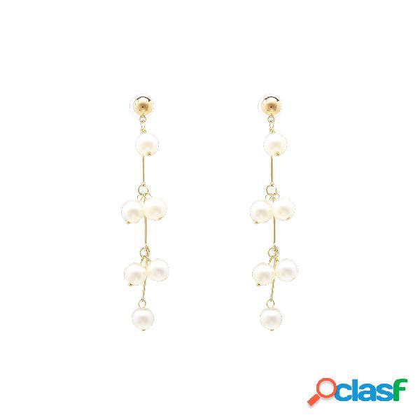 Pendientes de oro de la decoración de la perla decorativa