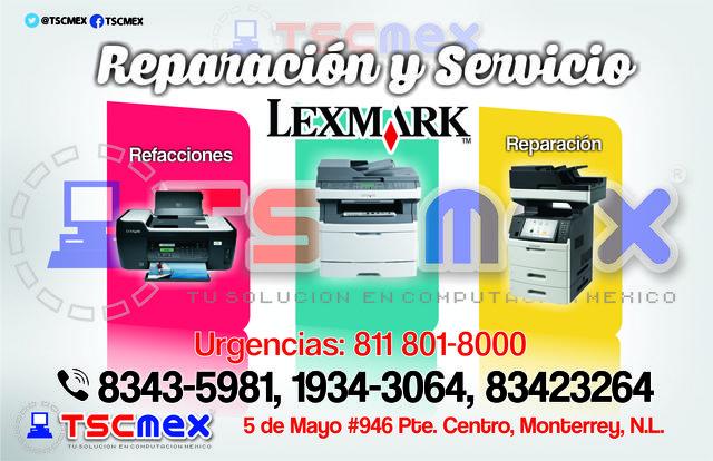 Reparacion y mantenimiento de impresoras Lexmark