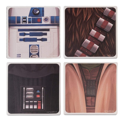 Set 4 Portavasos Star Wars Ceramic Coaster Set Colección