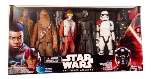 Star Wars The Force Awakens Pack 6 Figuras Chewbaca Kylo Ren