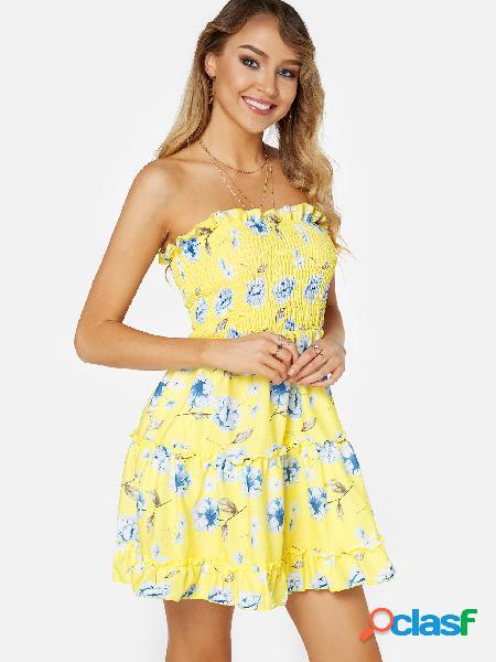 Vestido sin espalda con estampado floral sin espalda