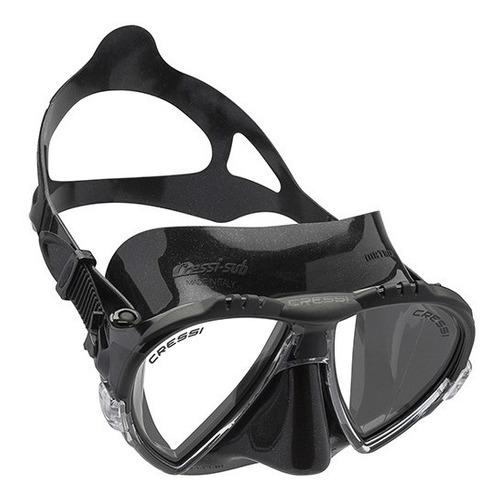 Ds  Máscara Para Buceo Matrix Dark Color Negro Cress