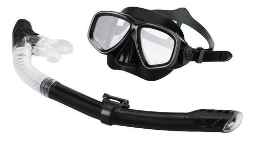 Máscaras Buceo Goggle Completo Dry Silicona Tubo Set Equipo