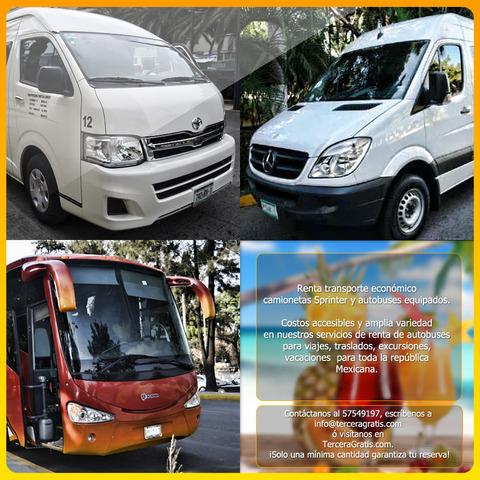 Renta De Camionetas Y Autobuses Para Todos Tus Viajes.