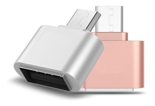 10 Piezas Cable Adaptador Otg Usb Hembra A V8 Memorias Mouse