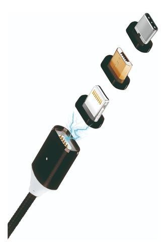 Cable Blackpcs Mag Triple Magnetico 3 En 1 Negro 100 Cm/ /vc