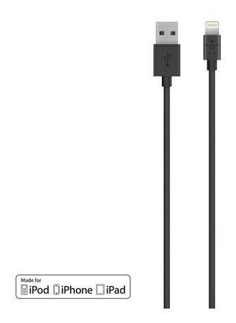 Cable Lightning Para iPhone Y iPad Color Negro - Belkin