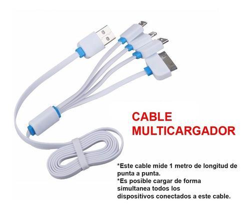 Cable Multicargador LG Samsung iPhone 4 Y 5 Incluye Envio