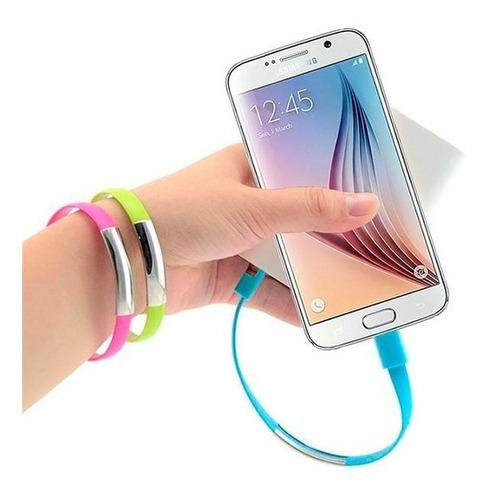Cable Pulsera Android Micro Usb De Datos Htc Sony LG Samsung