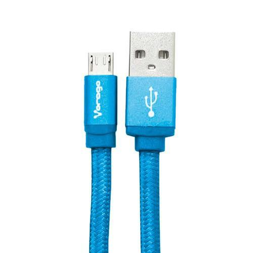 Cable Usb V8 Vorago Cab-113 Usb A Micro Usb Azul Uso Rudo