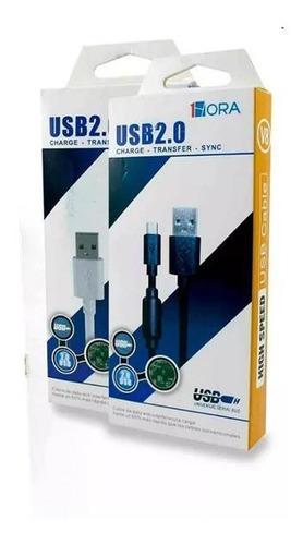 Lote 10pz Cable Stela 1hora V8 Uso Rudo Carga Rapida