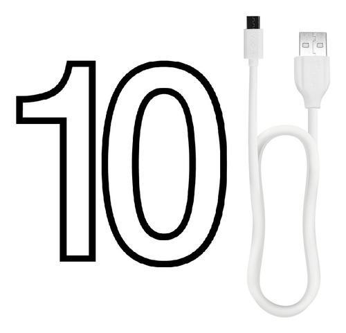 Paquete 10 Cables 1hora Usb 2.1a Tipo C 1 Metro Carga