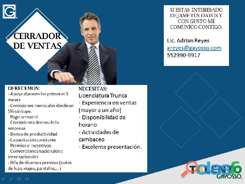 Supervisor / Cordinador de Ventas