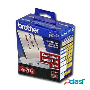 Cinta Brother Continua DK2113 Transparente, 62mm x 15.2m