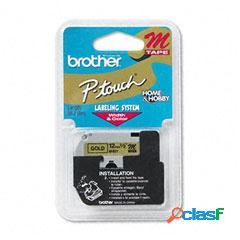 Cinta Brother M831 Negro sobre Oro, 12mm x 8m