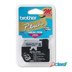 Cinta Brother M921 Negro sobre Plata, 9mm x 8m