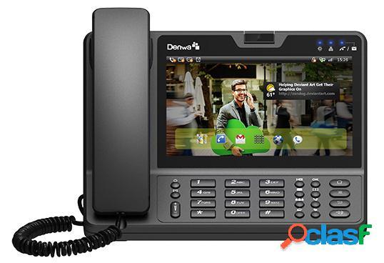 Denwa Videoteléfono IP DW-820G con Pantalla Tactil, Gigabit
