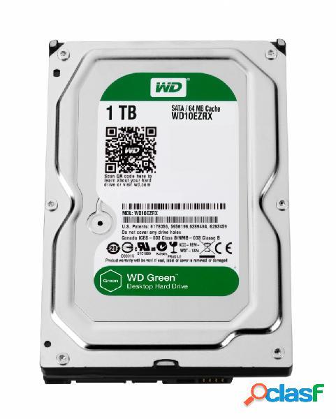 Disco Duro Interno Western Digital WD Green 3.5'', 1TB, SATA