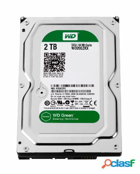 Disco Duro Interno Western Digital WD Green 3.5'', 2TB, SATA