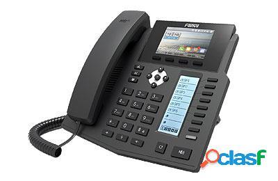 Fanvil Teléfono IP 2 Pantallas X5S, 8 Teclas Programables,