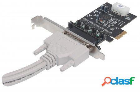 Manhattan Tarjeta PCI Express 152105, de Serie RS-232, 4