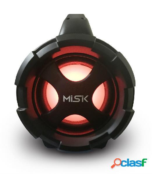 Misik Bocina Portátil MS255, Bluetooth, Inalámbrico, USB,