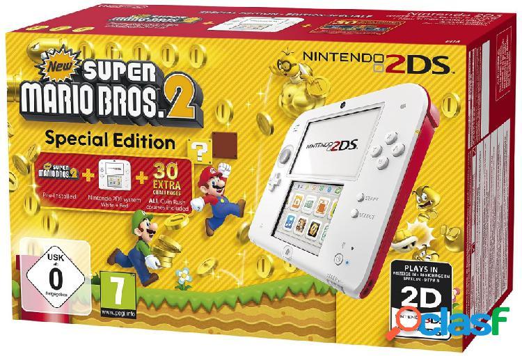 Nintendo 2DS, Blanco/Rojo - Incluye New Super Mario Bros 2