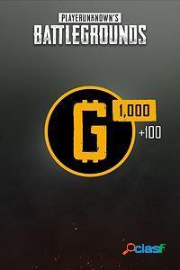 Playerunknowns Battlegrounds, 1100 Monedas, Xbox One -