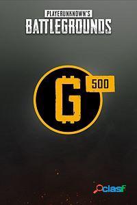 Playerunknowns Battlegrounds, 500 Monedas, Xbox One -