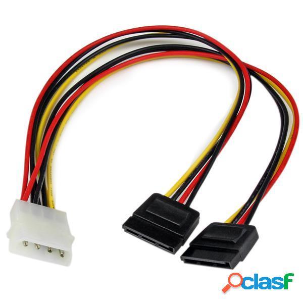 StarTech.com Cable de Alimentación en Y, 12'', 2x SATA,
